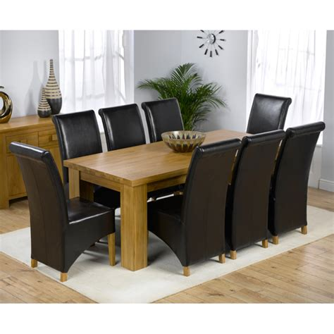 Chunky Dining Table And Chairs Daniela Chunky Solid Oak Dining Table And 8 Barcelona