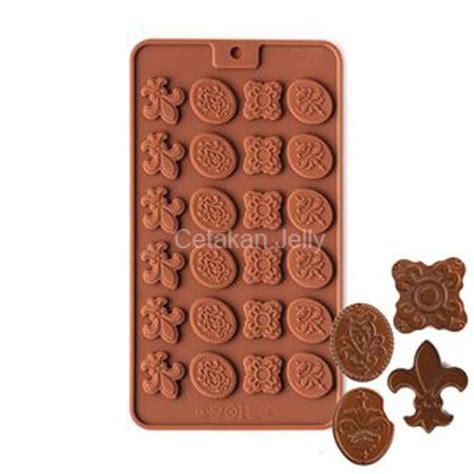 cetakan silikon coklat mini fleur de lis sheet cetakan jelly cetakan jelly