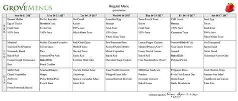Menus For Assisted Living Facilities Get A Free Sle Assisted Living Menu Template