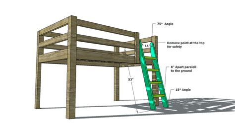 woodworking plans  build  toddler sized  loft