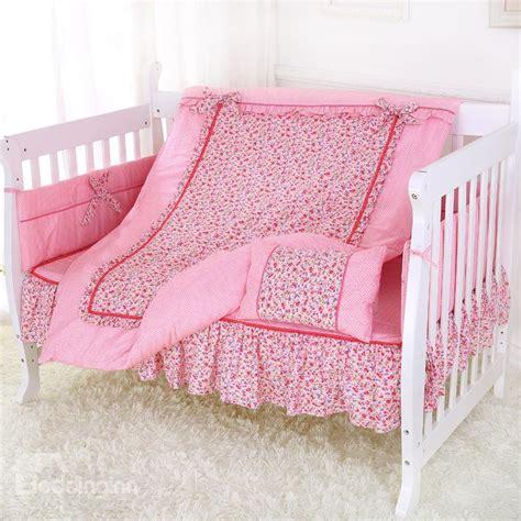 pink pattern crib sheet super soft and comfortable pink floral skirt pattern crib