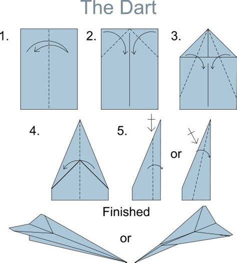 How To Fold A Paper In Three - dart paper airplane how to fold airplanes and paper
