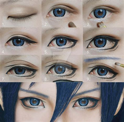 Tutorial Makeup Cosplay Male | cosplay eyes makeup tutorial for shonen by mollyeberwein