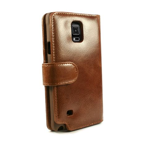 Flip Shell Fdt Samsung Galaxy Note 4 Brown 1 tuff vintage leather wallet cover for samsung