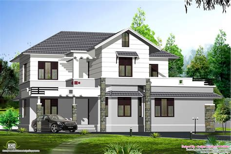 wonderful sloping roof house design