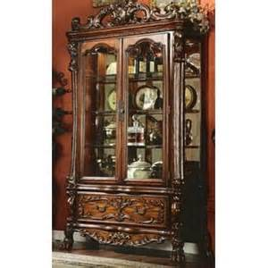 Curio Cabinet At Sears Willmot Cherry Stained Finish Wood Curio Cabinet Chest