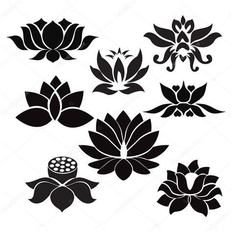 lotus tattoo vector lotus flowers tattoo illustration on white background