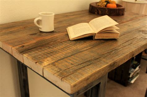 reclaimed wood pub table reclaimed wood bar pub table modern indoor pub and