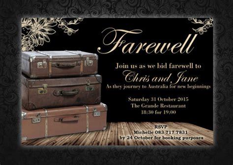 amazing farewell invitation templates