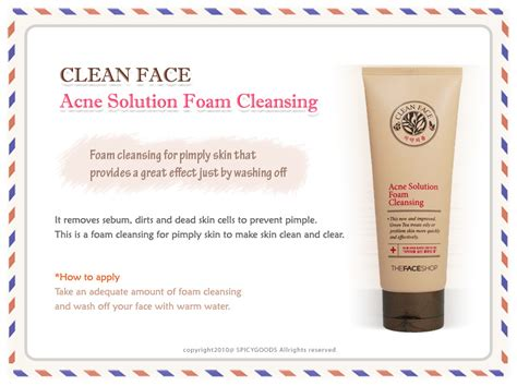 Harga The Shop Acne Solution Foam Cleansing sữa rửa mặt trị mụn acne solution foam cleansing the