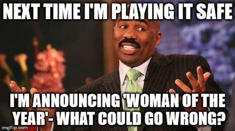 play it safe the two woman crusade steve harvey meme imgflip