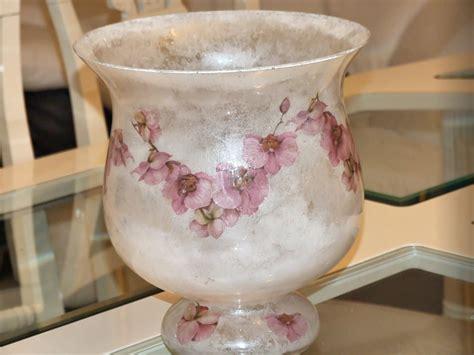 tutorial decoupage su vaso di vetro vaso con cornice di fiori