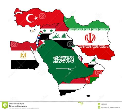 middle east map flag archives real facts