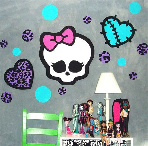 monster high themed bedroom monster high room decor ideas for kids room