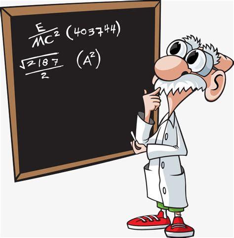 imagenes de matematicas en caricatura un profesor de matem 225 ticas que piensa dibujo a mano de