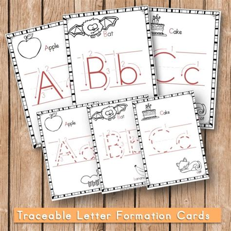 Traceable Letter Cards
