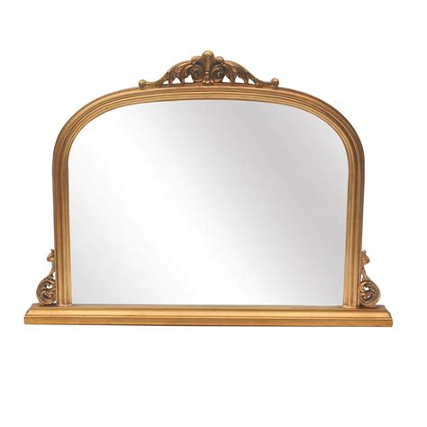 abrielle style gold overmantle mirror furniture