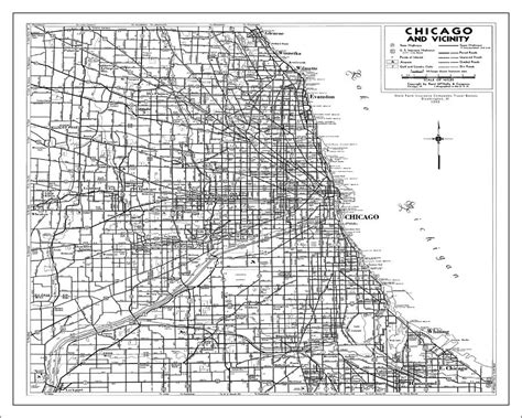 chicago map black and white chicago map white painting by watercolormaps chris