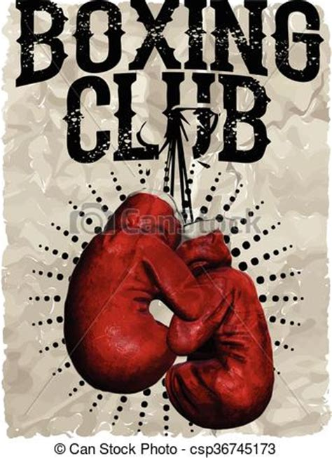 vintage boxing poster template vectors illustration of vintage boxing gloves vector