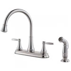 free kitchen faucets pfister glenfield two handle widespread lead free kitchen faucet with side spray