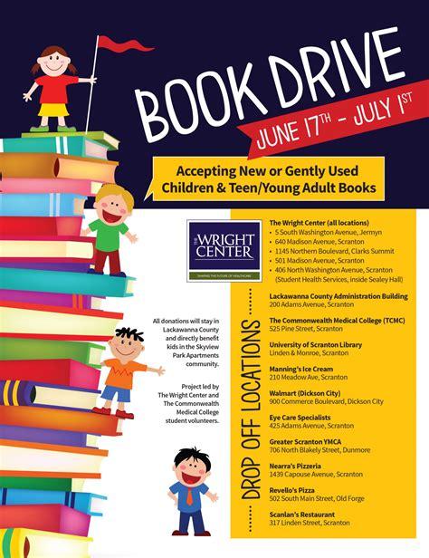 Book Drive Flyer Template