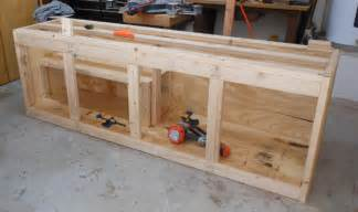 projects cheap workbench build toolmonger building shop cabinets using bed woodoperating plans to