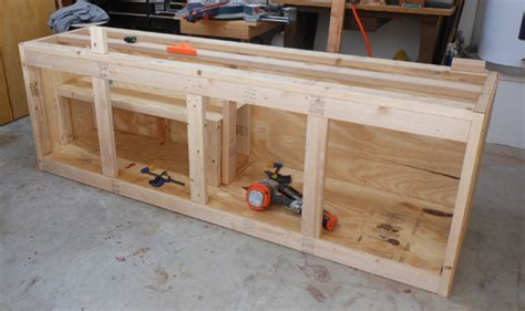 how to make a tool bench projects cheap workbench build toolmonger