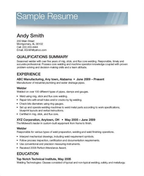 Exles Of Simple Resumes by 19500 Free Printable Resume Exles Resume Templates
