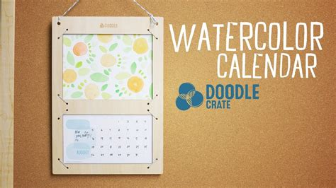 how to do a doodle calendar paint a watercolor calendar doodle crate project