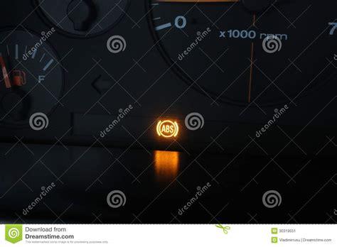 anti lock brake light abs malfunction light stock image image 30319551