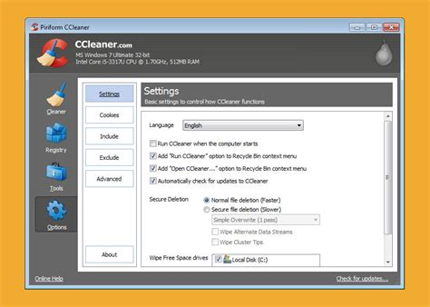 ccleaner tool ccleaner registry system cleaning tool 2017 xp