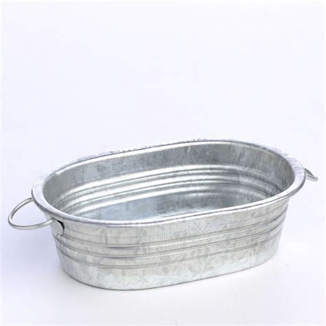 miniature galvanized metal oval wash tub what s new