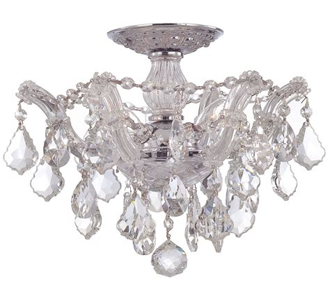 Flush Mount Chandelier Semi Flush Mount Chandeliers Home Design Ideas