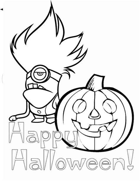 Minion Pumpkin Coloring Pages | minion and pumpkin coloring page h m coloring pages