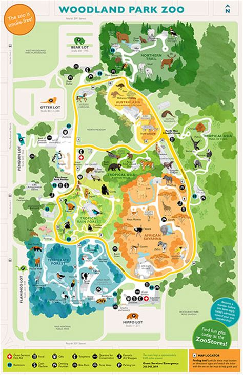 seattle zoo map guest services map rentals accessibility woodland