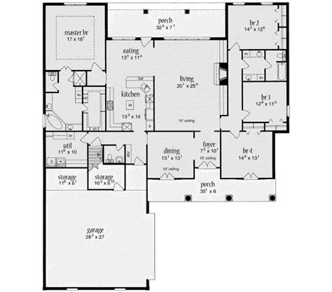 450 sq ft floor plan traditional style house plan 4 beds 2 5 baths 2705 sq ft