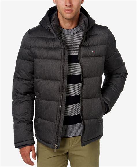 tommy hilfiger puffer jacket fur hood tommy hilfiger men s classic hooded puffer jacket in black