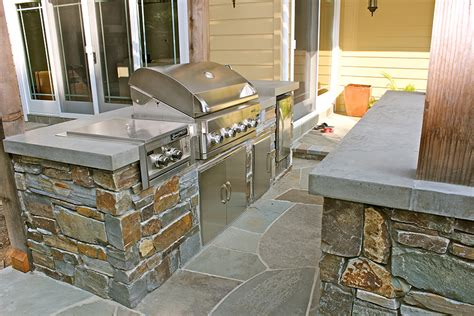 Outdoor Kitchen Concrete Countertop by Outdoor Kitchens Concrete Interiors Custom Concrete