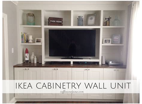 wall unit coffee and pine ikea hack wall unit