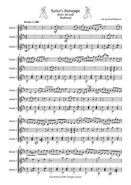 The Sailor's Hornpipe Guitar Trio - Gitarre, Gitarre