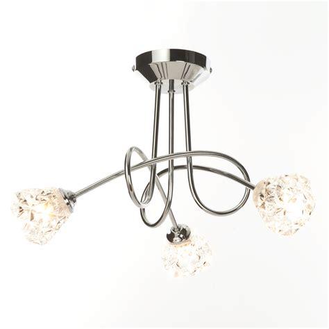 3 bulb ceiling light fitting contemporary polished chrome 3 way flush ceiling light