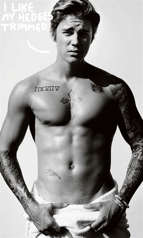 no pubes men justin bieber shows off some serious pubes in his towel