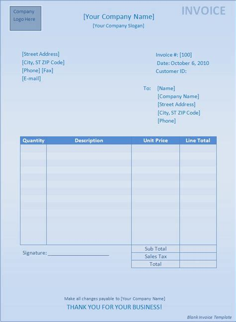 search results for free blank invoice template microsoft