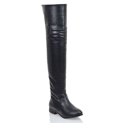 new s the knee high cut out flat