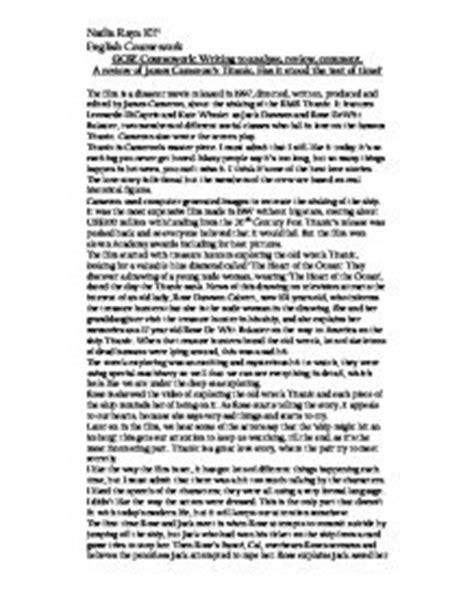 Titanic Essays by Titanic Cameron Essays Analysis Titanic Review Essay