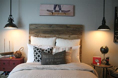 industrial bedroom pinterest industrial bedroom with recycled timber bedhead and