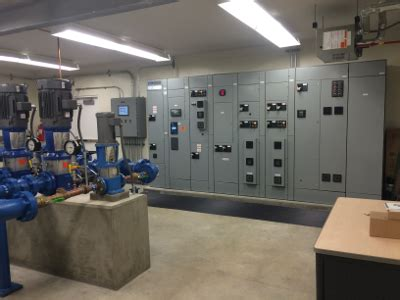 route  pump station barrett electric   industrial electrical contractors