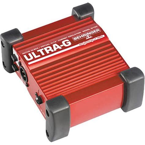 behringer ultra g gi 100 di box with speaker simulation gi100