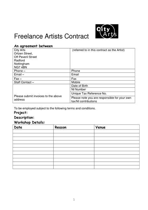 freelance makeup artist contract template best photos of freelance employment contract template