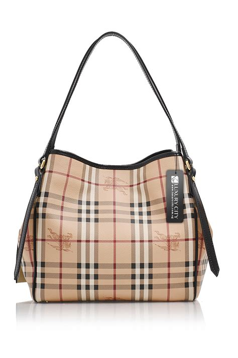Burberry Bag burberry small haymarket check canterbury tote bag black